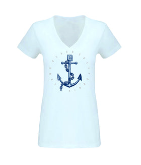 Anchor Women's Sueded V Neck