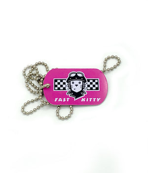 Fast Kitty Dog Tag