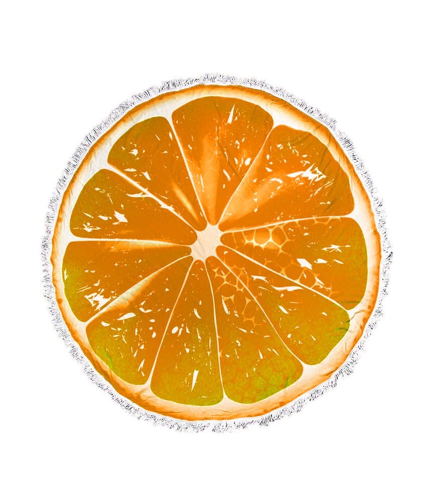 Load image into Gallery viewer, Summer Citrus Round Beach Towel