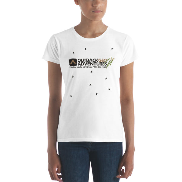 Australian Outback Friendly Flies - Women's short sleeve t-shirt