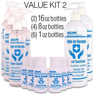 Safe-In-Seconds Hand Sanitizer Value Kit 2