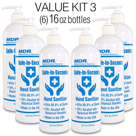Safe-In-Seconds Hand Sanitizer Value Kit 3