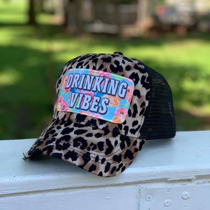 Black Leopard Drinking Vibes | Hats