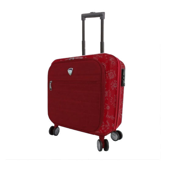 Mia Toro ITALY Medallions Underseat Hardside Luggage - My Gaia Travel Buddy