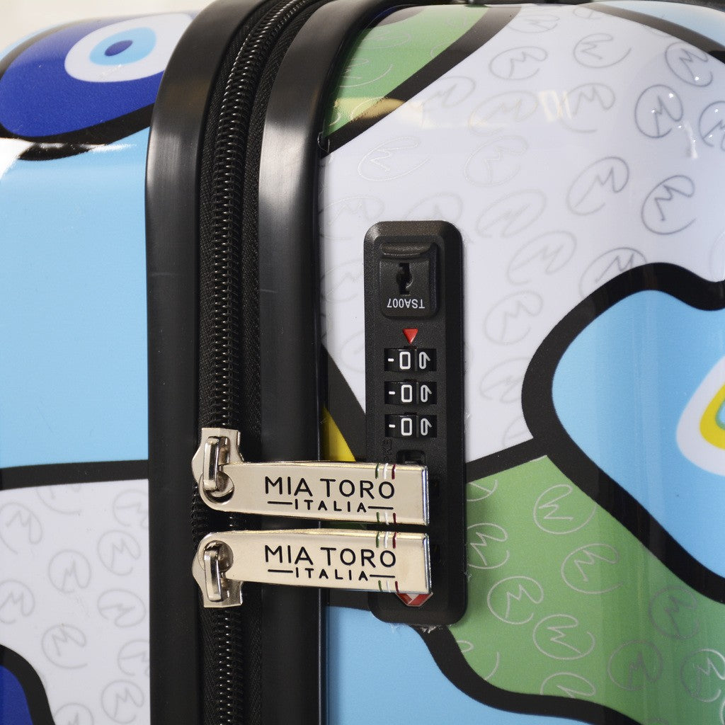 MIO Evil Eye Hardside Underseat Luggage - My Gaia Travel Buddy