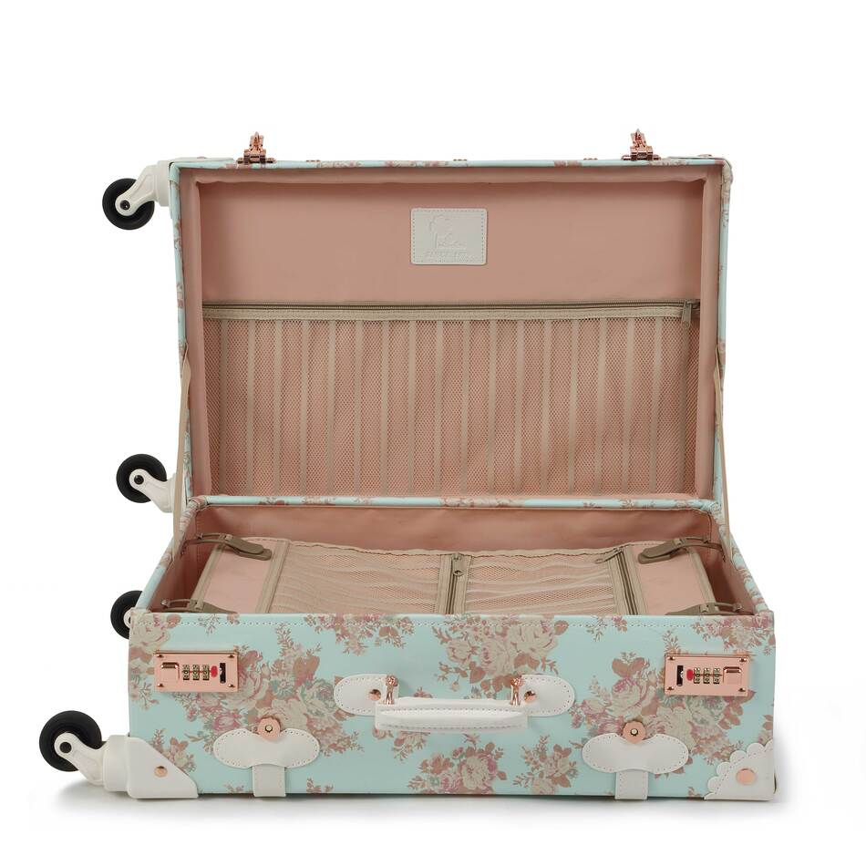 Vintage Style Floral Travel Luggage