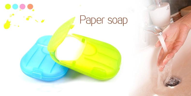 20 Pc Paper Soap - My Gaia Travel Buddy