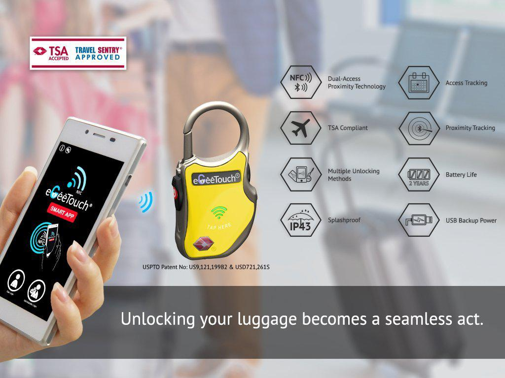 eGeeTouch® Smart Lock - My Gaia Travel Buddy