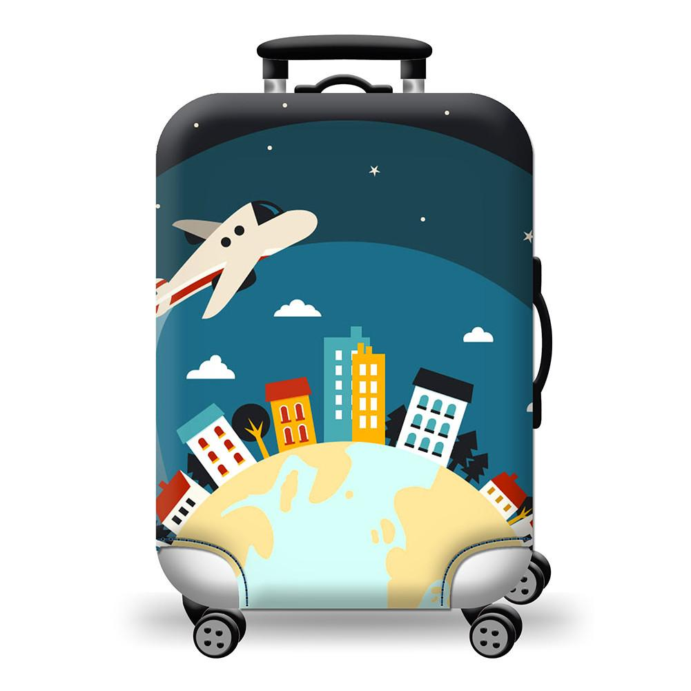 Red Eye Flight Suitcase Cover - My Gaia Travel Buddy