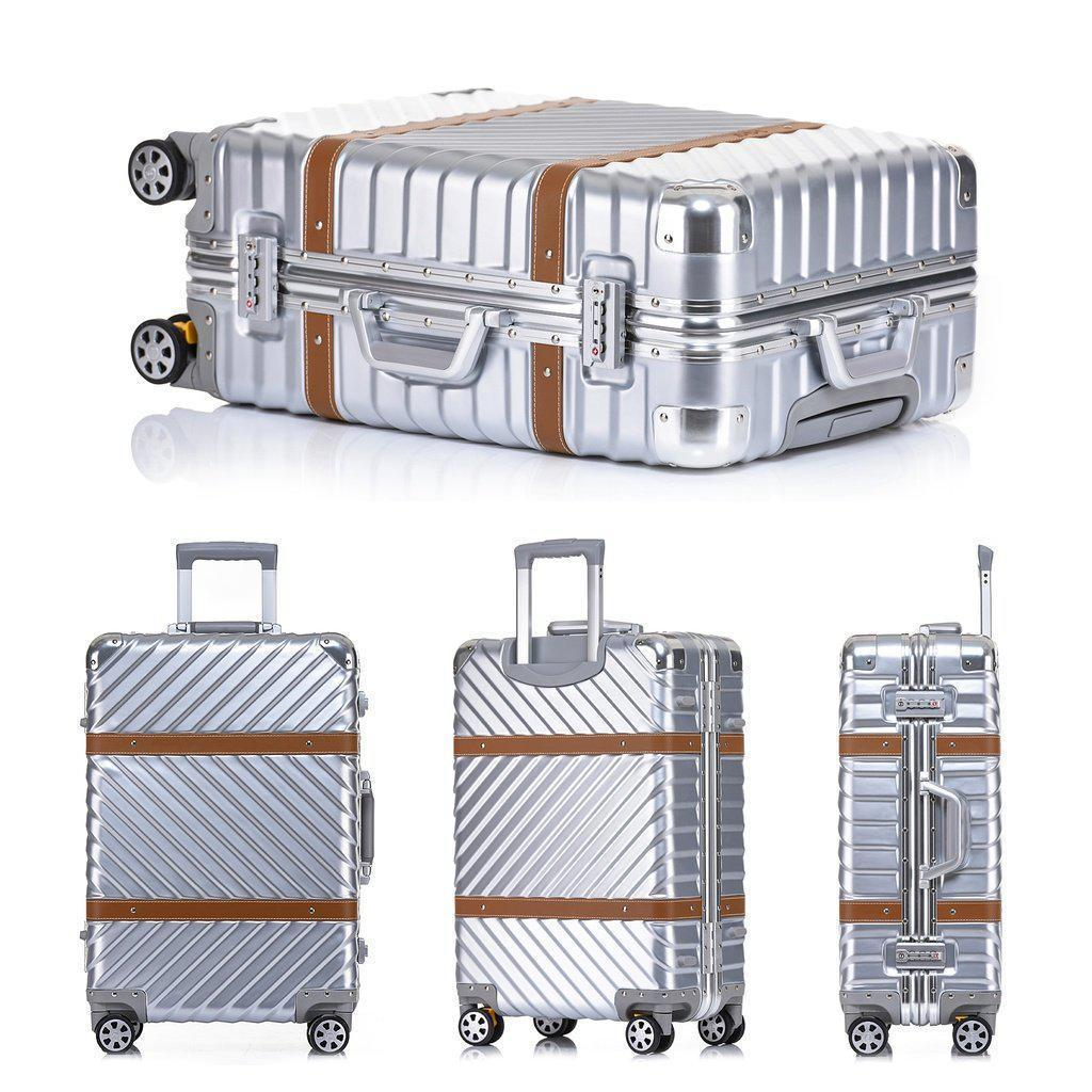 Aluminum Frame Vintage Style Hardside Luggage - My Gaia Travel Buddy