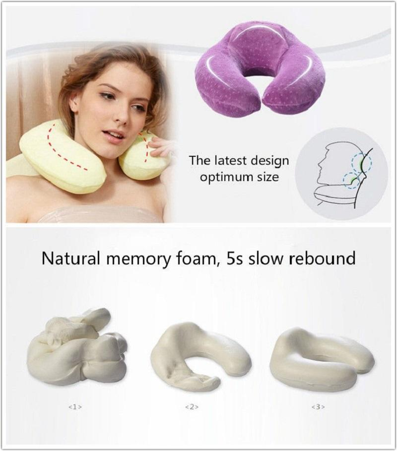 Memory Foam Travel Neck Pillow - My Gaia Travel Buddy