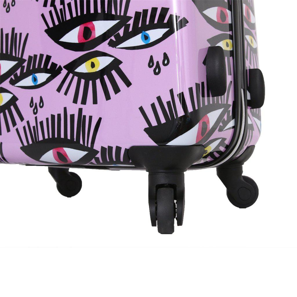 Halina H Bouffants & Broken Hearts BOLD EYES Hardside Luggage - My Gaia Travel Buddy