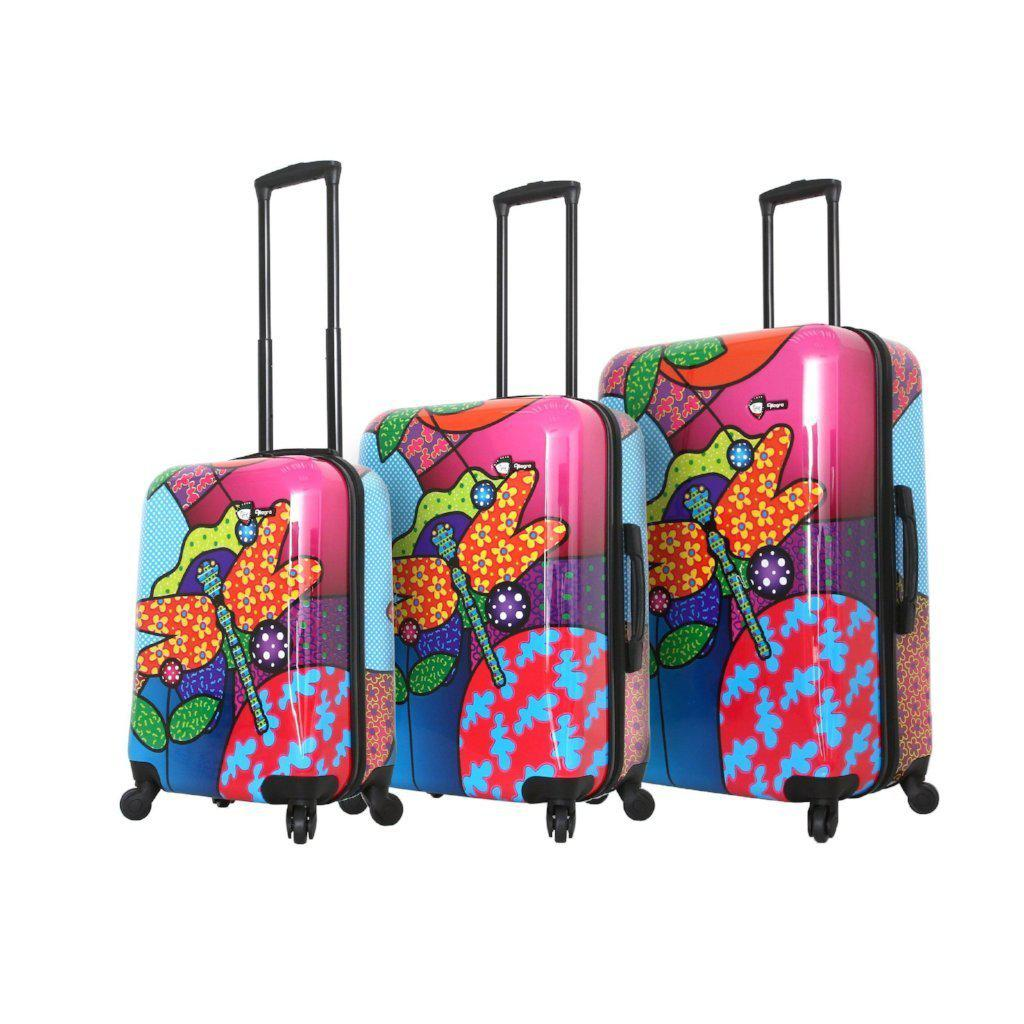 Mia Toro Allegra Pop Dragonfly Hardside Luggage - My Gaia Travel Buddy