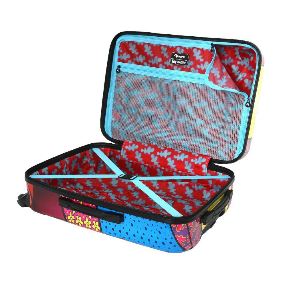 Mia Toro Allegra  Pop Ladybug Hardside Luggage - My Gaia Travel Buddy