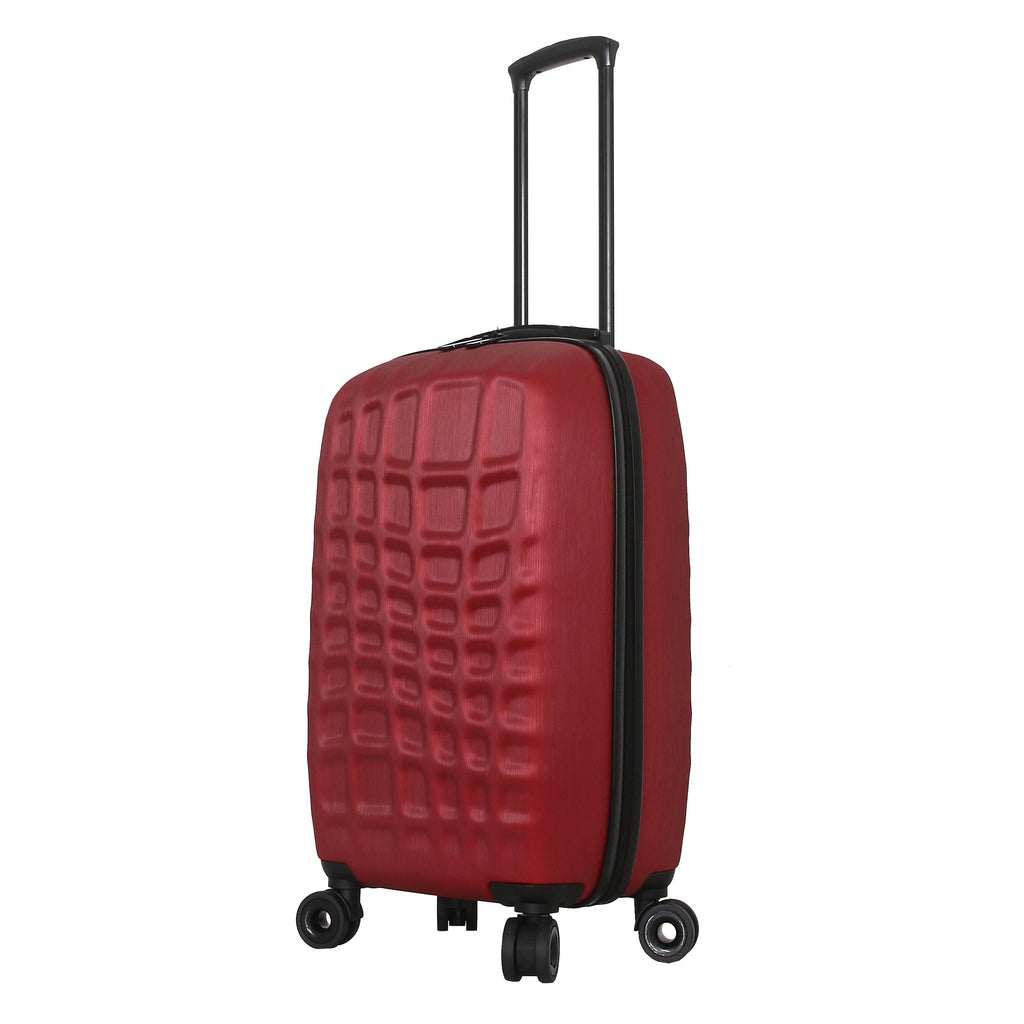 Mia Toro ITALY Abstract Croco Hard Side Spinner Luggage - My Gaia Travel Buddy