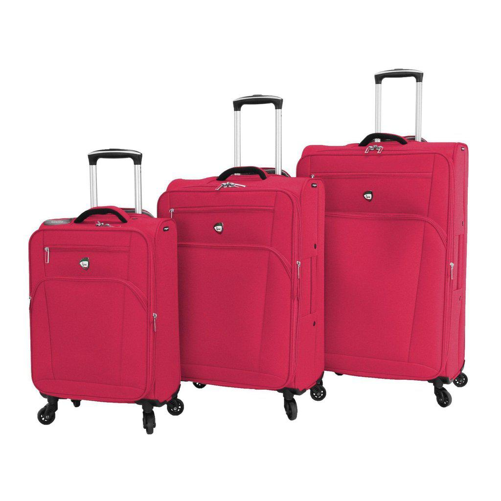 Mia Toro ITALY Aria Softside Spinner Luggage 3 Piece set - My Gaia Travel Buddy