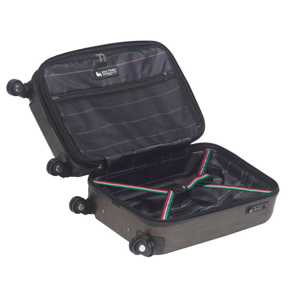 Mia Toro ITALY Diamante Spazzolato Hardside Spinner Luggage - My Gaia Travel Buddy