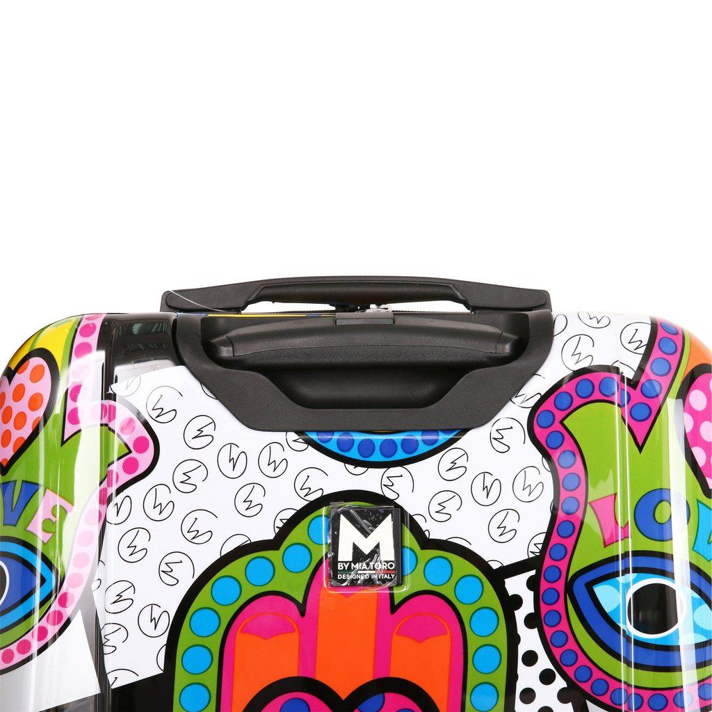 Mia Toro ITALY Hamsa Love S Hard Side Spinner Luggage - My Gaia Travel Buddy