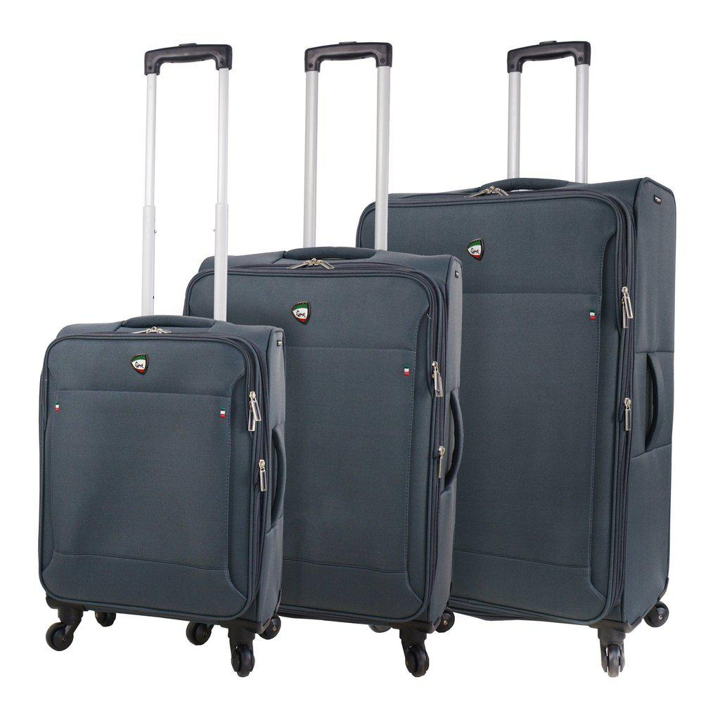 Mia Toro ITALY Idice Softside Spinner Luggage 3PC Set - My Gaia Travel Buddy