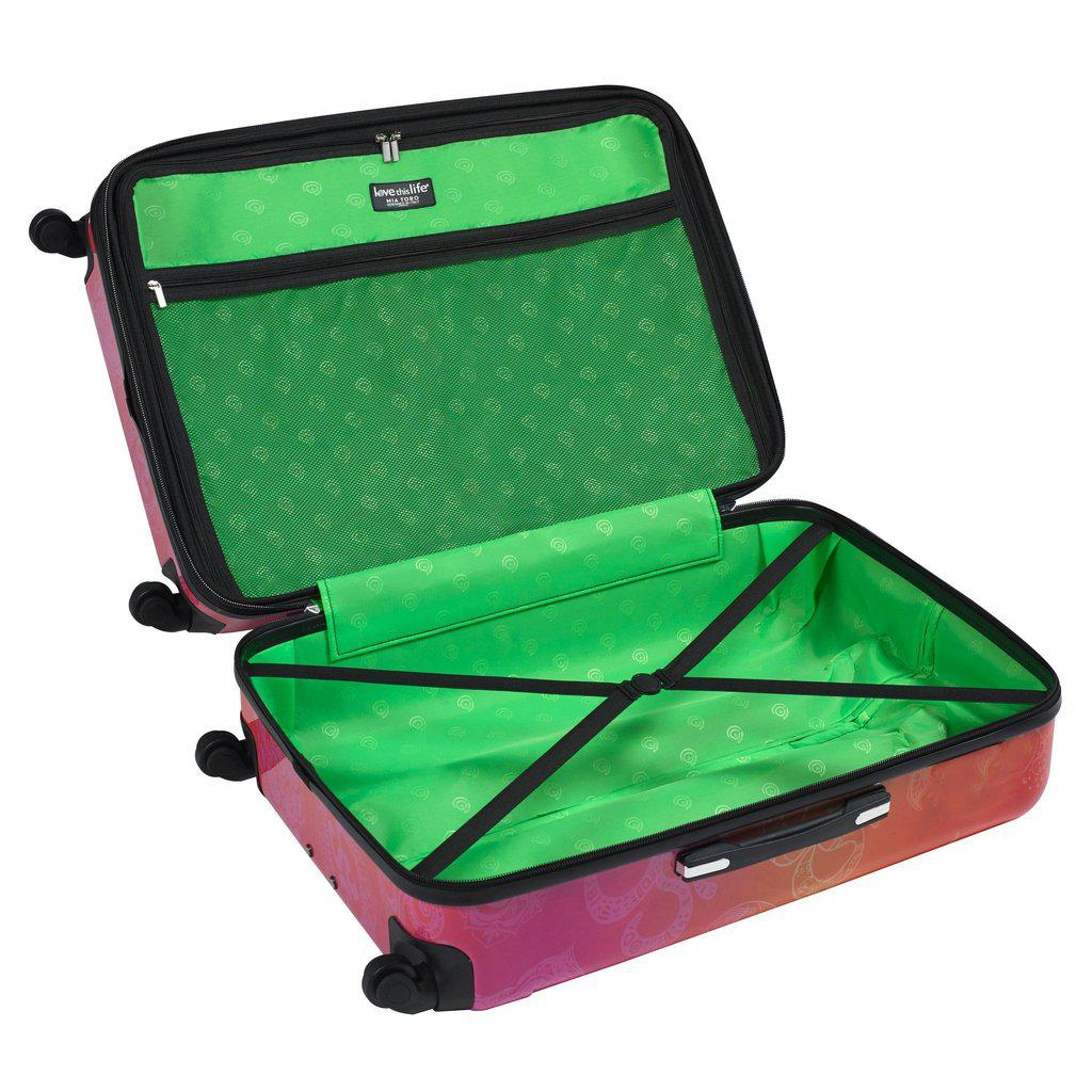 Mia Toro ITALY Love This Life - OM  Hardside Spinner Luggage - My Gaia Travel Buddy