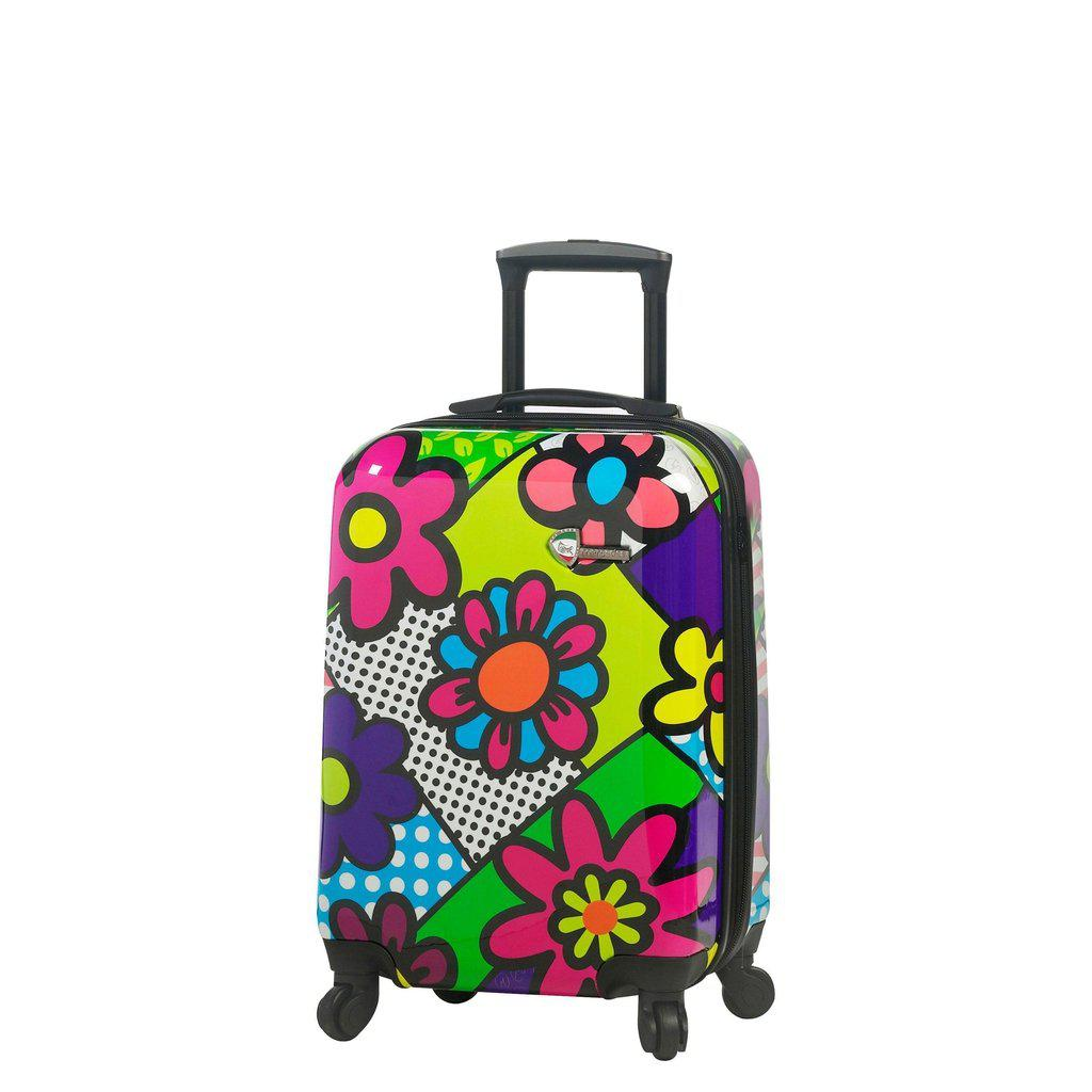 Mia Toro ITALY M by Mia Toro-Flower Largo Hardside Spinner Luggage 3PC Set - My Gaia Travel Buddy