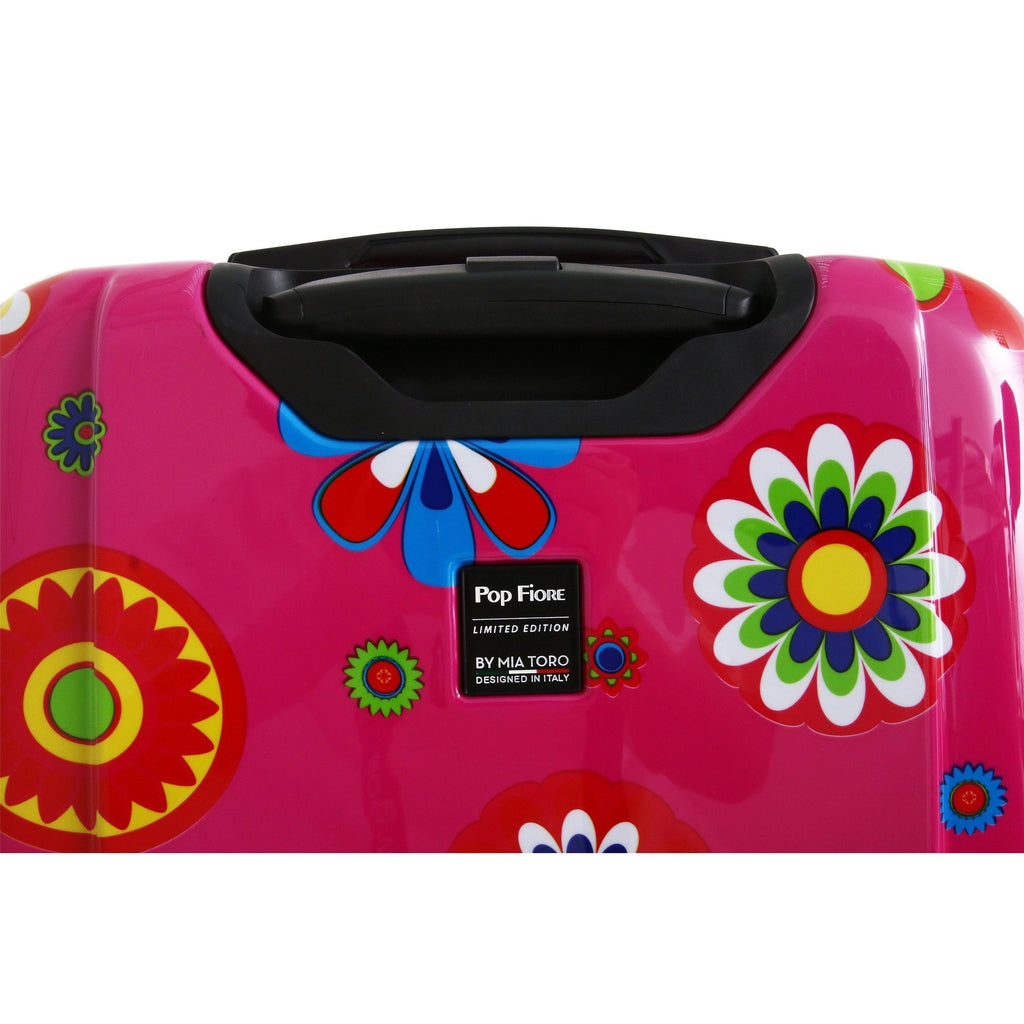 Mia Toro ITALY Pop Fiore Hardside Spinner Luggage - My Gaia Travel Buddy