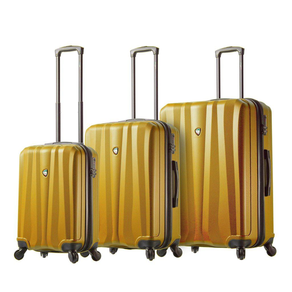 Mia Toro ITALY Pozzi Hardside Spinner Luggage 3PC Set - My Gaia Travel Buddy
