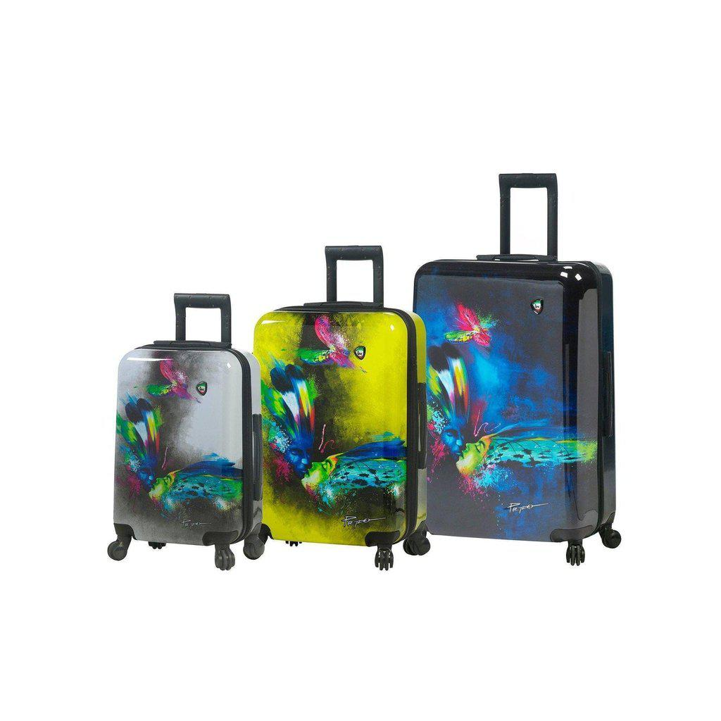 Mia Toro ITALY Prado-Butterfly Kiss Hardside Spinner Luggage 3 PC set - My Gaia Travel Buddy