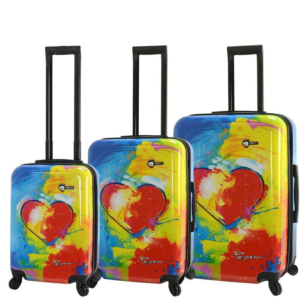 Mia Toro Prado-In Love Hardside Spinner Luggage - My Gaia Travel Buddy