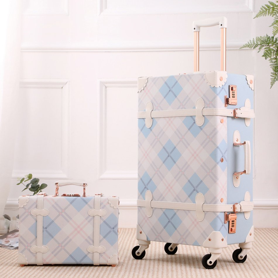 Vintage Style Mosaic Luggage Collection