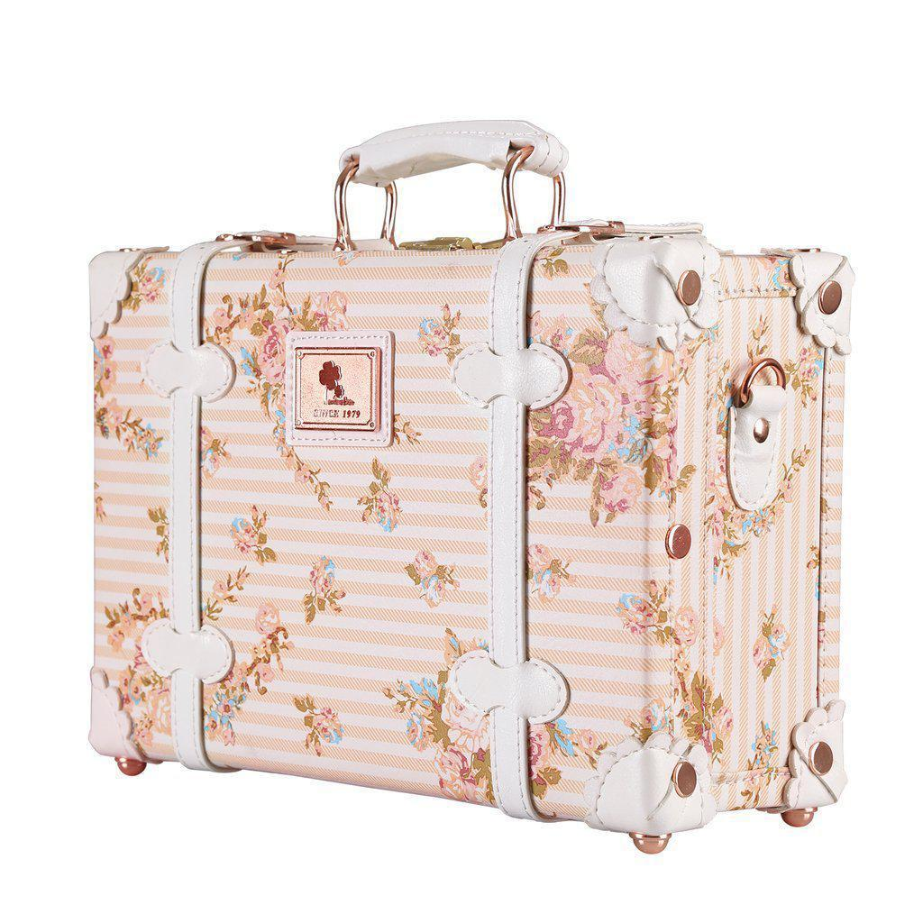 Vintage Style Floral Travel Luggage-My Gaia Travel Buddy