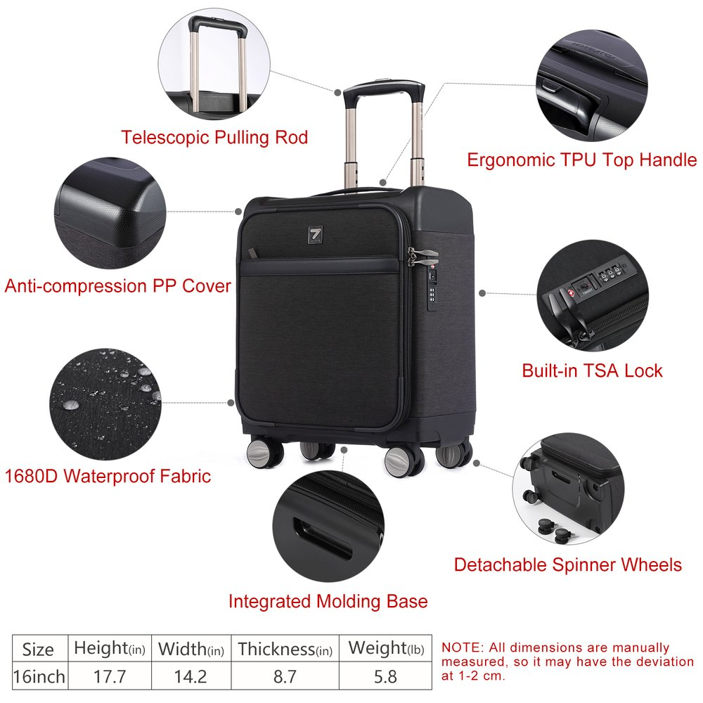 Light Weight 16 Inch Business Carry-On Luggage