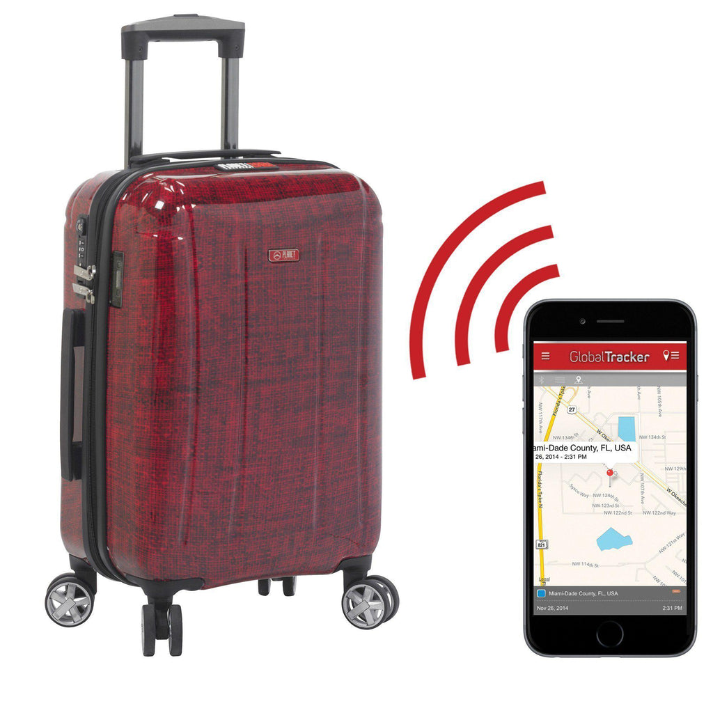 Planet Traveler USA Smart Tech Case Hardside Spinner Luggage - My Gaia Travel Buddy