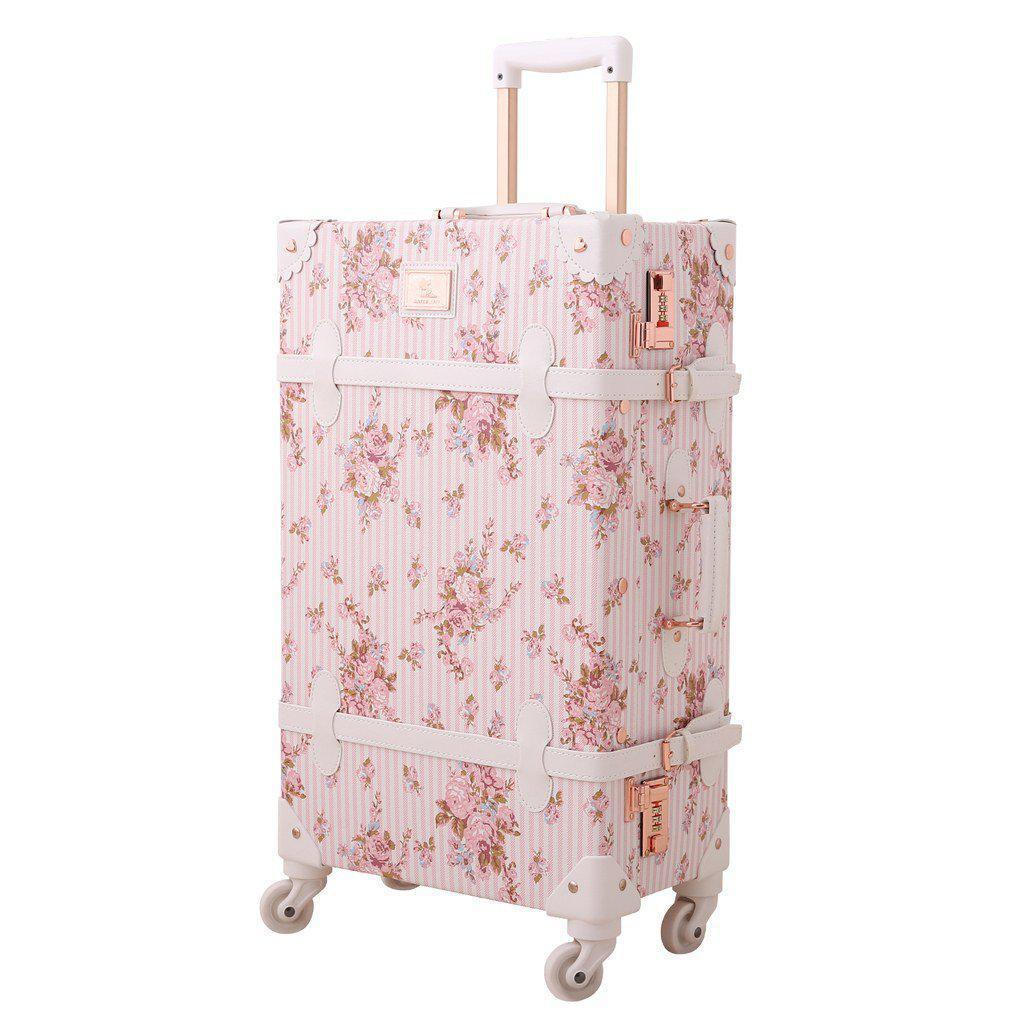 Vintage Style Floral Carry On Travel Luggage - My Gaia Travel Buddy