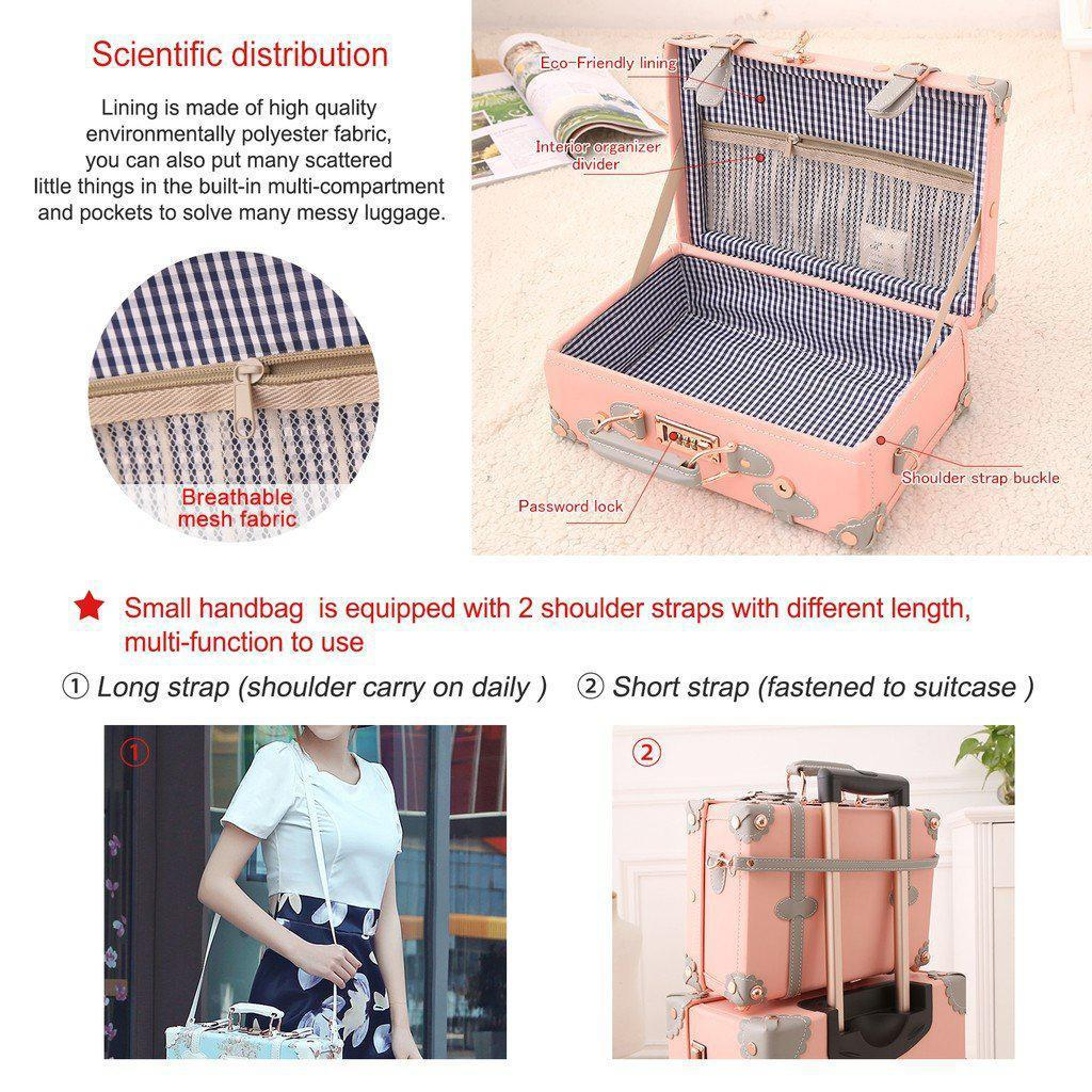 Crystal Pink Vintage Luggage Collection - My Gaia Travel Buddy