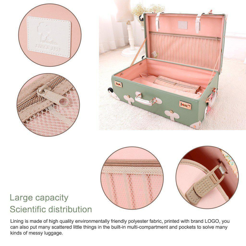 Vintage Style Travel Trunk Luggage-My Gaia Travel Buddy