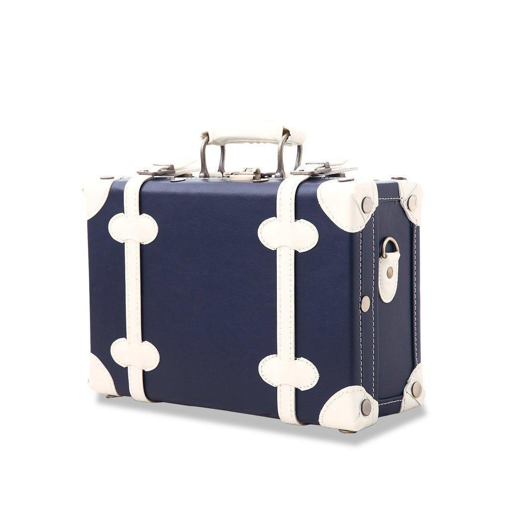 Briefcase from a dark blue vintage luggage set