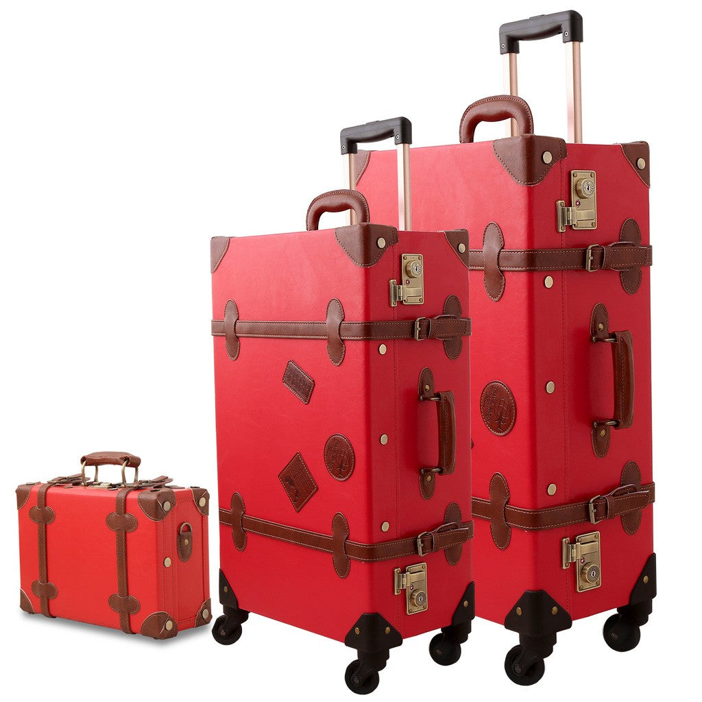 Vintage Style World Travel Luggage Collection
