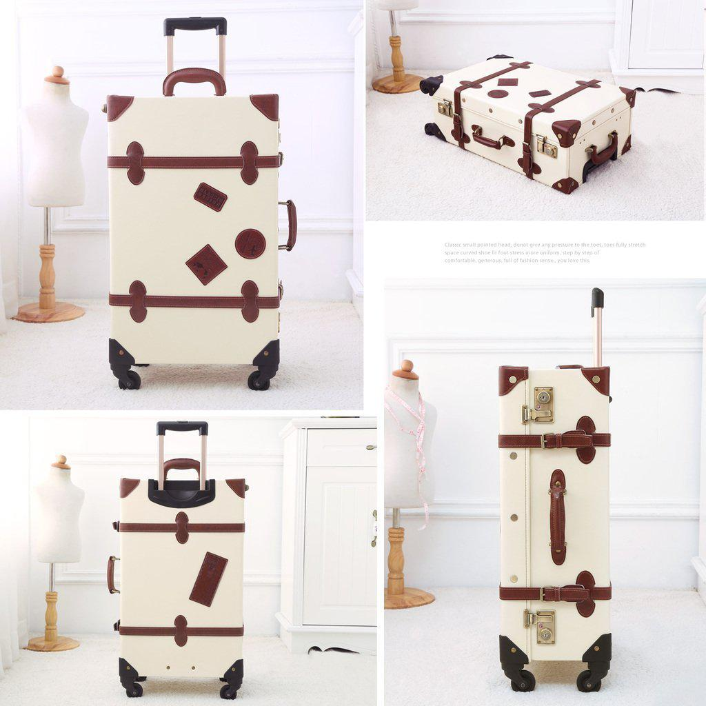 Vintage Style World Travel Luggage Collection-My Gaia Travel Buddy