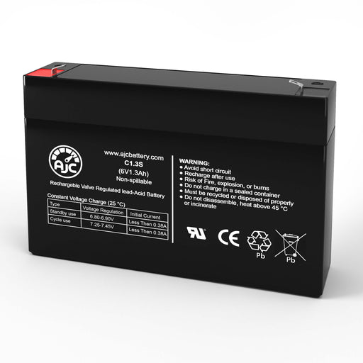 Batterie de Remplacement Power Kingdom PS1.2-6 6V 1.3Ah Acide scellé de plomb-1