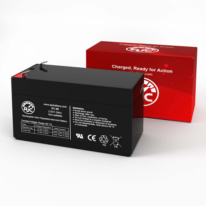 Batterie de Remplacement National NB12-1.2 12V 1.3Ah Acide scellé de plomb-2