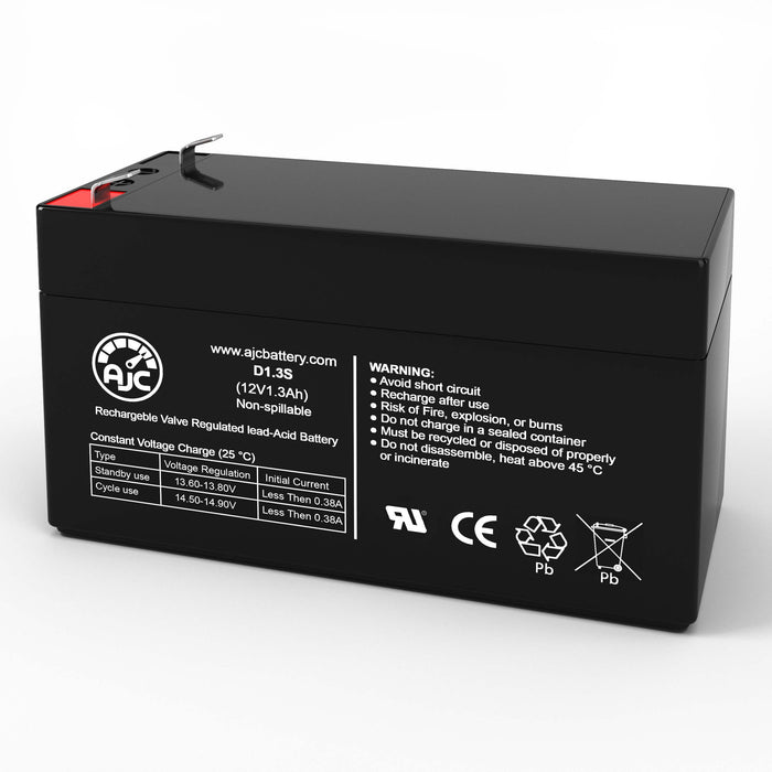 Batterie de Remplacement National NB12-1.2 12V 1.3Ah Acide scellé de plomb-1
