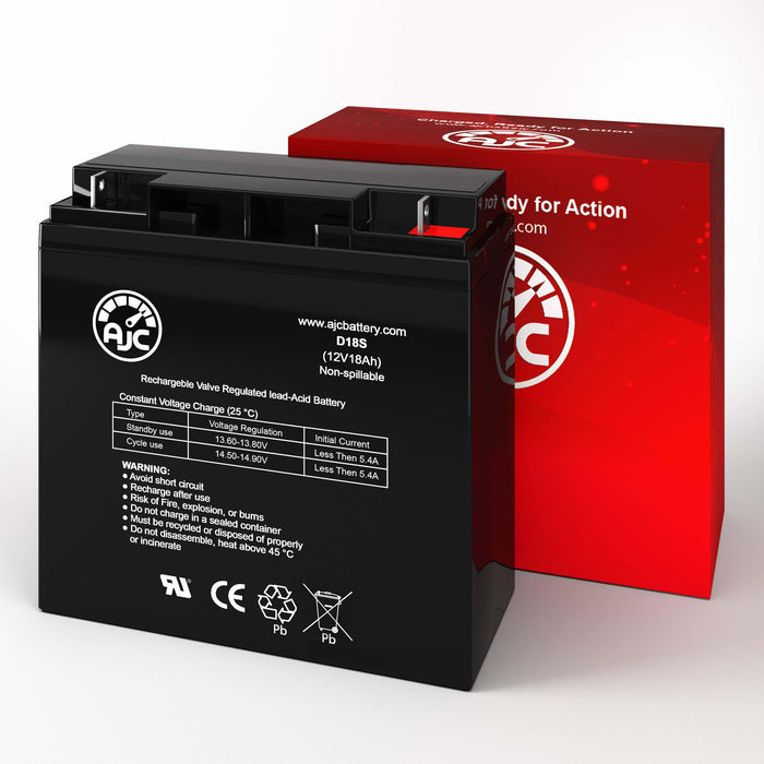 Batterie de Remplacement National NB 12-18HR 12V 18Ah Acide scellé de plomb-2