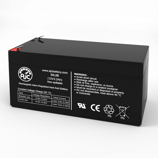 Batterie de Remplacement Power Kingdom PS3.2-12 12V 3.2Ah Acide scellé de plomb-1
