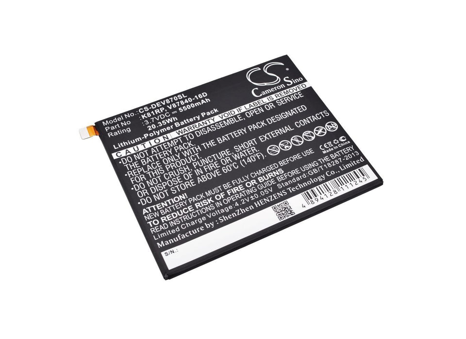 Dell Venue 8 7000 Venue 8 7840 Replacement Battery