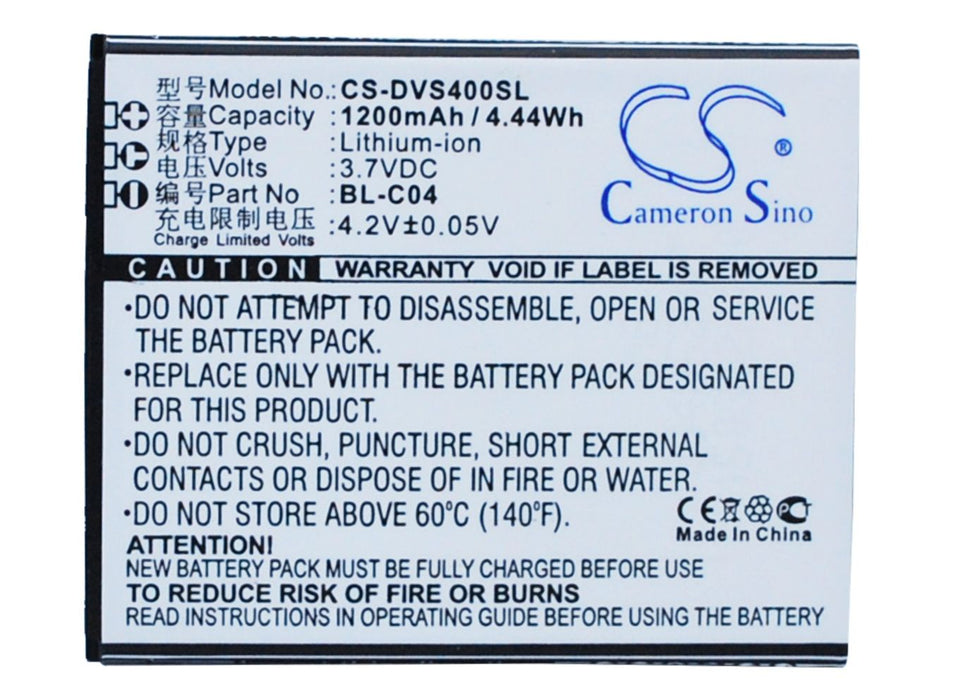 DOOV D500 iSuper S1 iSuper S1K S1 S1K Replacement Battery