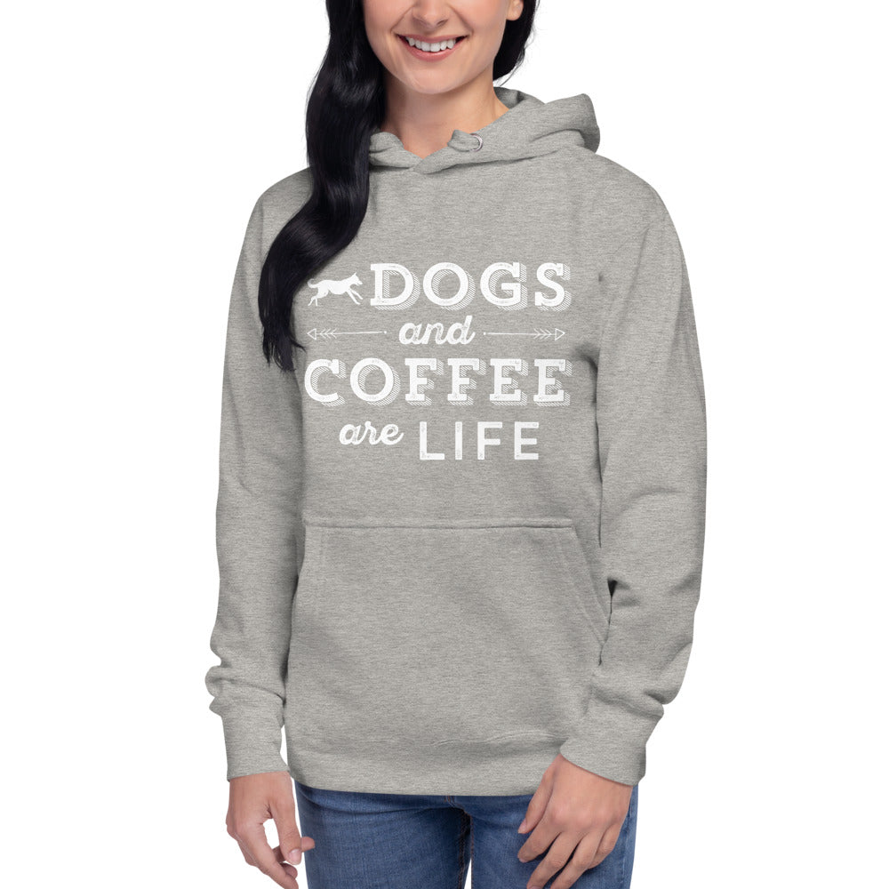 Dogs & Coffee Are Life Unisex Hoodie + Free Shipping