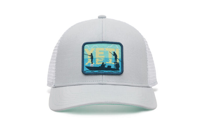 YETI POLING FISH PATCH TRUCKER HAT