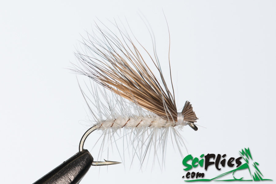 SCI FLIES ELK HAIR CADDIS 3pk