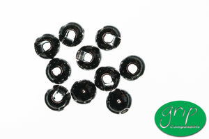 GRIP SLOTTED TUNGSTEN BEADS (Pkt 25)
